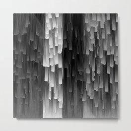 Fringe (Black and White) Metal Print