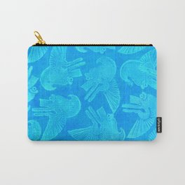 Ehecatyl - Aztec Wind God in Aztec Blue Carry-All Pouch