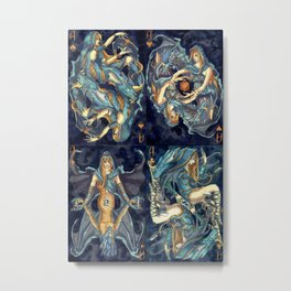 Suit of Aces - Painting Metal Print