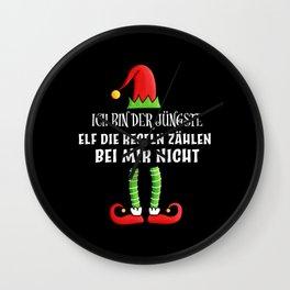 jüngste elf Partnerlook Weihnachten Wall Clock