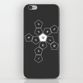 Grey Unrolled D12 iPhone Skin