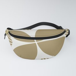 Diamond Series Floral Diamond Twist White on Gold Fanny Pack