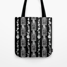 The Hierophant - A Tarot Floral Pattern Tote Bag