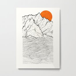 The orange sun Metal Print