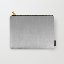 Gray to White Horizontal Linear Gradient Carry-All Pouch