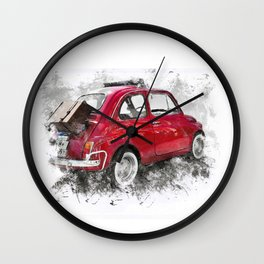 Rosso Fiat Wall Clock