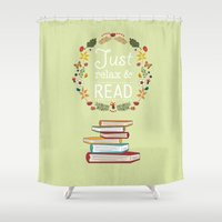 read Shower Curtains featuring Read by Kakel