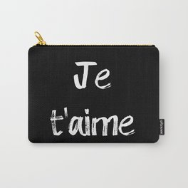 Je t'aime Black Carry-All Pouch