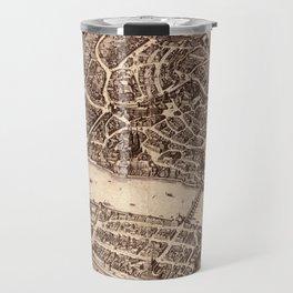 Map Of Basel 1615 Travel Mug