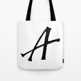 Letter A Ink Monogram Tote Bag