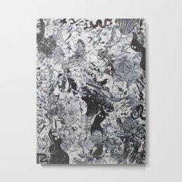 """No. 1"" Acrylic Abstract Painting by Tasha Boehm Metal Print"