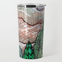 landscape forest montain pines Travel Mug