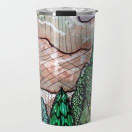 landscape forest montain pines Travel Mug