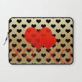 Two red hearts in tandem Laptop Sleeve