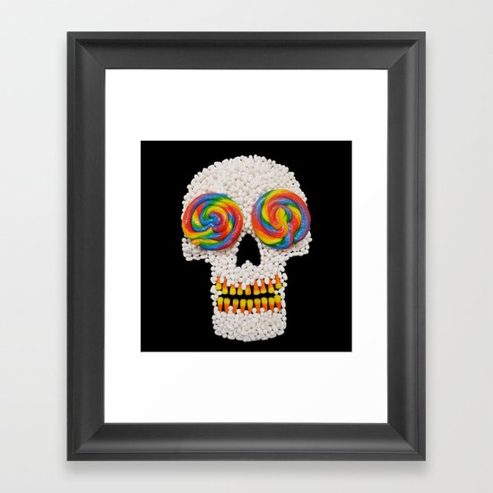 Skullipop Framed Art Print