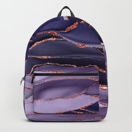 Violet Marble Glamour Landscapes Backpack