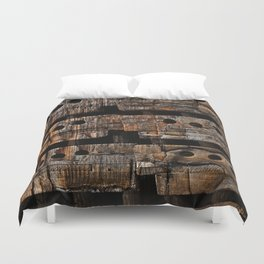 Charred Wood Boxes Duvet Cover