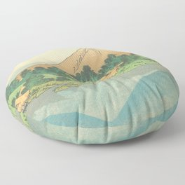 Reflection in Lake at Misaka in Kai Province, Thirty-six Views of Mount Fuji by Katsushika Hokusai Floor Pillow