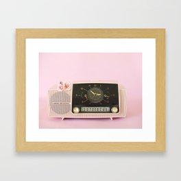 Vintage Clock Radio Framed Art Print