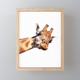 Giraffe portrait Framed Mini Art Print