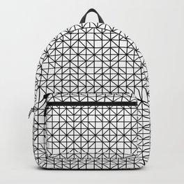Minimalist Black and White Geometric Pattern Backpack