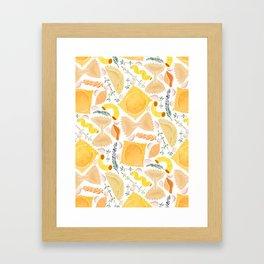Pasta Pattern on White Framed Art Print