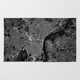 Philadelphia Black Map Rug
