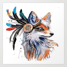 Fox Paint Art Print