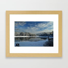 River View - Finally Looks Like Winter Framed Art Print