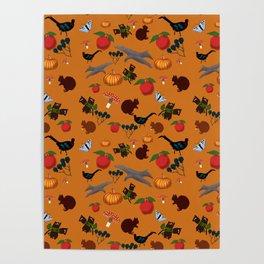 Autumn Harvest Time Poster