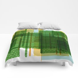 Abstract Geometric Dots Comforters
