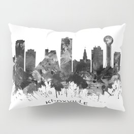 Knoxville Tennessee Skyline BW Pillow Sham