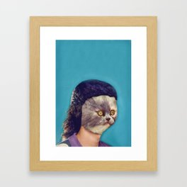 Your face does impressions of my ass Framed Art Print
