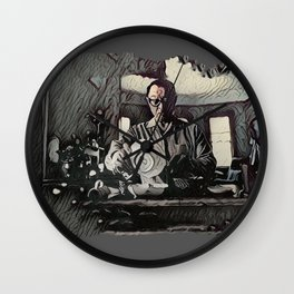 Dishes Wall Clock