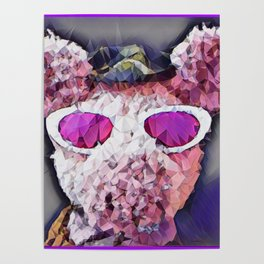 """""""Pinky the Pig Polygon Portrait"""" Poster"""