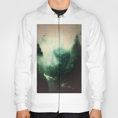 Morning dust on Mountains - Forest Wood Tree Hoody