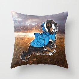 Vallie (Valentina) Leg-Wonk Shrimp-Dog the Magnificent Throw Pillow