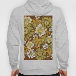 70s Retro Flower Power boho pattern Hoody