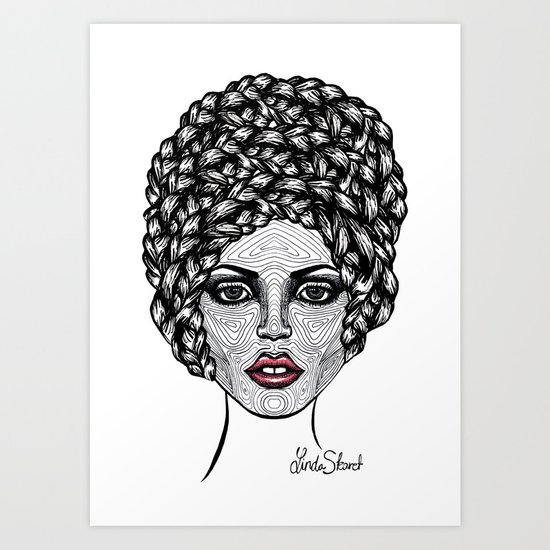 Big Hair Art Print