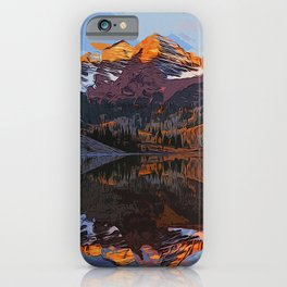 The Wonderful Maroon Bells in Autumn iPhone Case