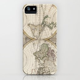 Vintage Map of The World (1687) iPhone Case
