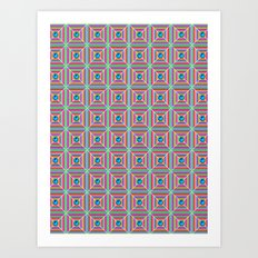 Connect the Dots Pattern Art Print