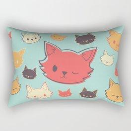Kitty Wink Rectangular Pillow