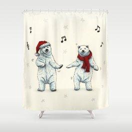 The polar bears wish you a Merry Christmas Shower Curtain