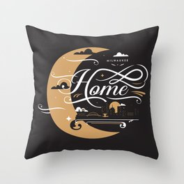 Milwaukee Home Moon Throw Pillow