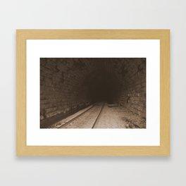 Railroad Tunnel Framed Art Print