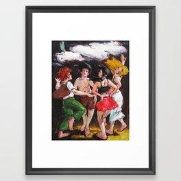 Dance of the rain Framed Art Print