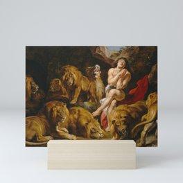 DANIEL IN THE LIONS' DEN PETER PAUL RUBENS Mini Art Print