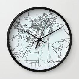 Kutaisi, Georgia, White, City, Map Wall Clock