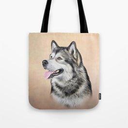 Dog Alaskan Malamute Tote Bag
